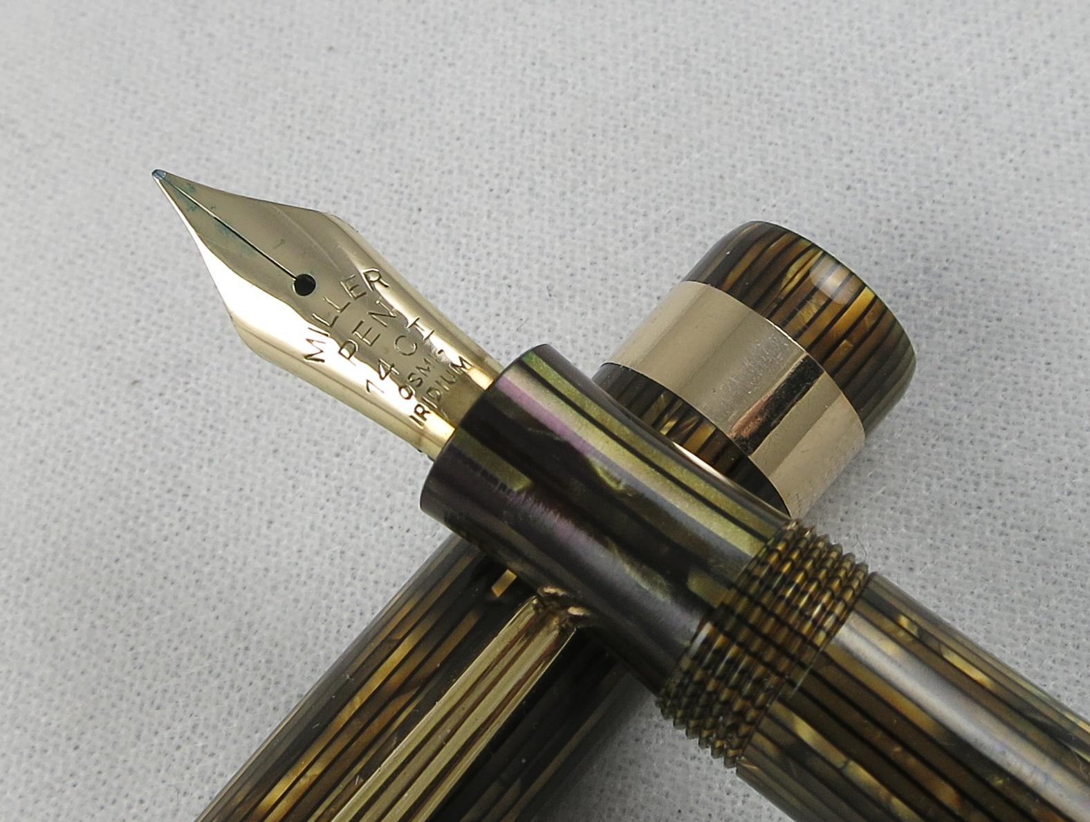 Miller 624 Gold Striated Aerometric Pen (Pen 2239) - ON HOLD
