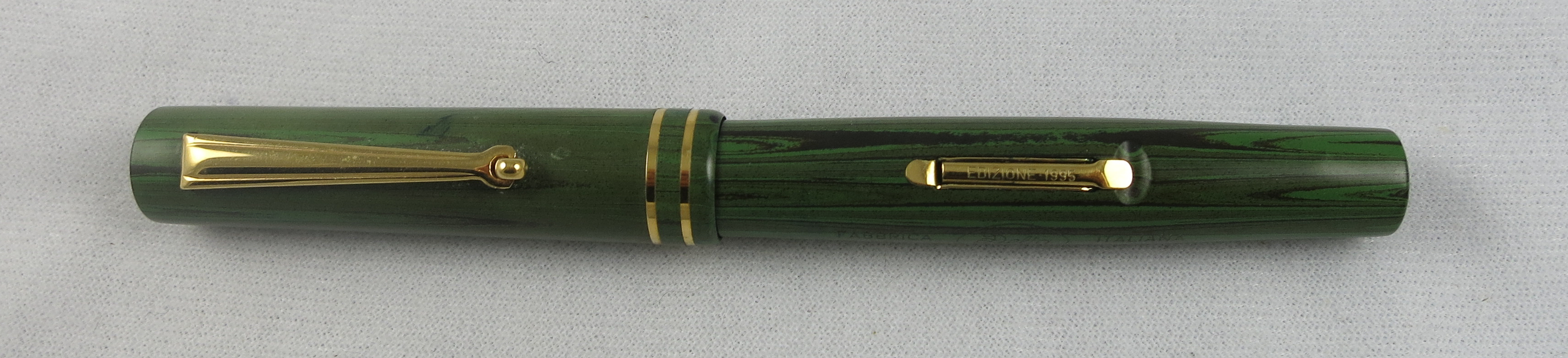 Delta Astra Limited Edition Green Woodgrain Ebonite Lever Filler (SB 602)
