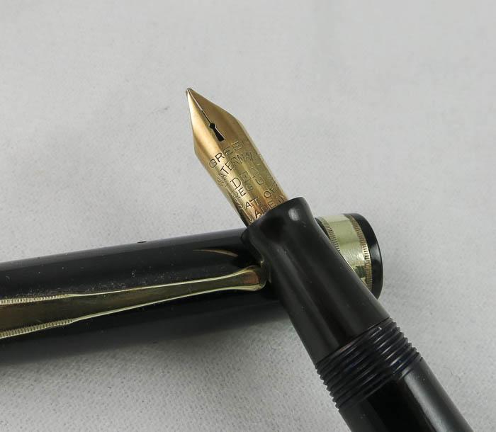 Waterman No. 7 - Black - With a Green Nib (SOL98)