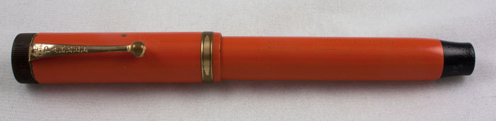 Red Hard Rubber Senior Duofold (Pen1095)