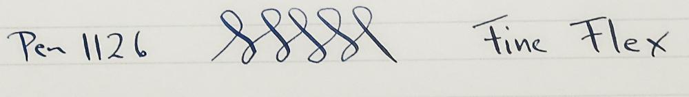 Conklin Endura - Mid-sized Black & Gold - Flex nib (Pen 1126)