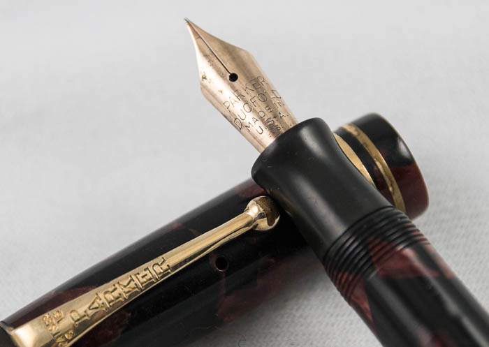 Parker Streamlined Junior Black and Burgundy Marbled (Pen1729)
