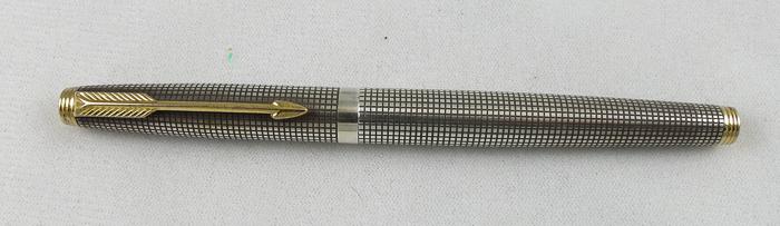 Parker 75 Silver Cisele Set: FP, BP, Pencil (Pen 2068)