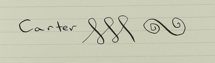 Carter Mid-size Derby - Lapis - Flex nib (Pen 391)