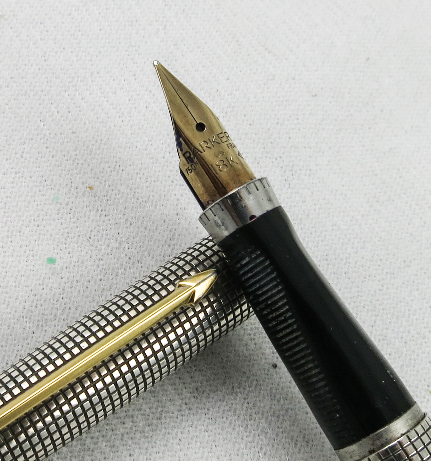 First Year Parker 75 in Sterling Cisele - Flat Ends (SB549)